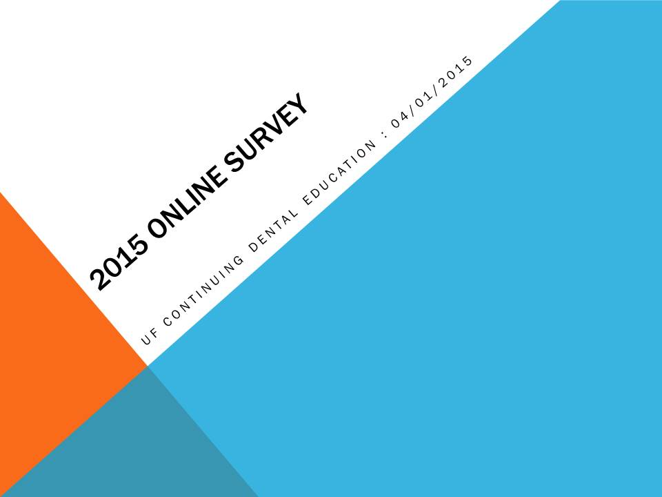 2015 Online survey.Cover